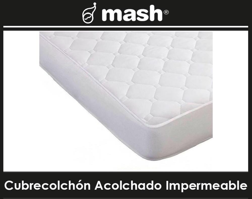Cubrecolchon Acolchado Impermeable Mash
