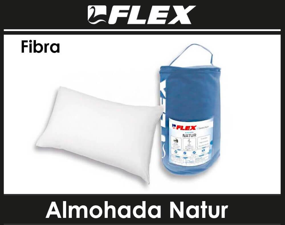 almohada fibra flex natur malaga